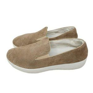 Fitflop Tan Suede Sneakers Size 7